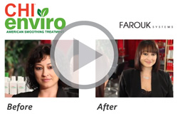 See the video describing Chi Enivro hair smoothing treatments